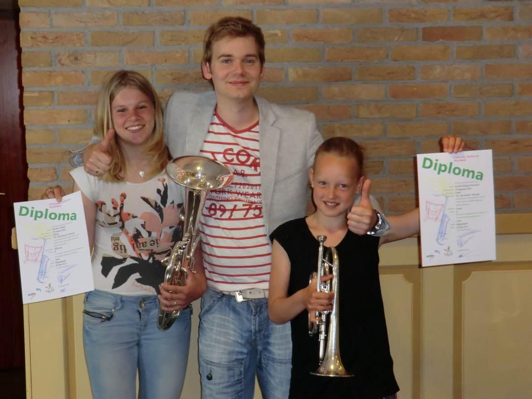 v.l.n.r: Marrit Ubbels, Paulus de Jong en Eveline Rianne Boonstra